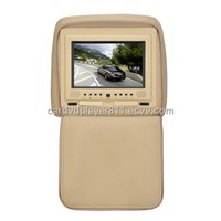 7 inch  Car headrest monitor with IR two AV input/