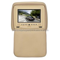 7 inch TFT high definition LCD Car headrest dvd player with FM/IR game