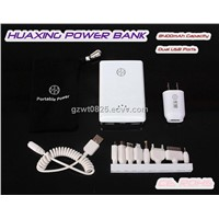 Hot 2 Colors Dual USB 11200mAh Portable Power Bank for iPad, Samsung Galaxy Note 1/2