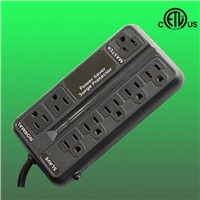 8 outlet ETL listed energy saving surge protector