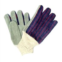 "9"" Grey Cowhide Leather Gardening Gloves"