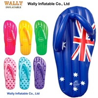 Aussie flag inflatable thong, large giant inflatable thong mattress, inflatable slipper mattress