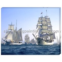 Big ship wood & canvas decor