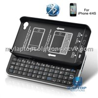 Bluetooth slider QWERTY keyboard case for iPhone 4/4s