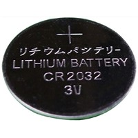 CR2032 Coin Type Primary Li/MnO2 Battery with 3.0V Rated Voltage and 1,000 Hours Rated Capacity