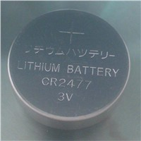 CR2477-1000mAh Coin Type Primary Li/MnO2 Battery with 3.0V Rated Voltage