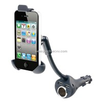 Car Charger Holder with dual USB for Smartphones UEH44