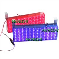 Car Led strobe light  cuboid LED  emergency warning Lamp led flash with red and blue color