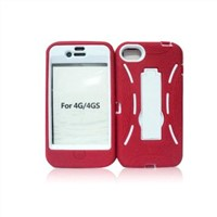 Cell phone Armor  case with kickstand for iPhone 4S