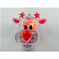 Christmas LED reindeer brooches