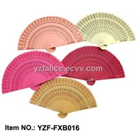 Colored Fragrant Wood Hand Fan