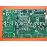 Custom 4 Layers 0.35mm Thickness Gold Plated FR4 Multilayer PCB Board with Blue Solder