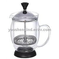 Double Walled Glass Coffee Press in 300ml /600ml