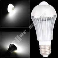 E27 IR Infrared Motion Sensor 6 LED Light Bulb Lamp 6W