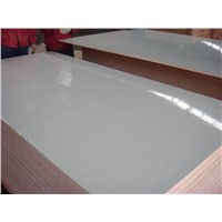 E2 grade white color glossy or matt formica fire-proof plywood HPL plywood