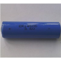 ER14505-2400mAh AA size Cylindrical Lithium Thionyl Chloride with 3.6V Rated Voltage Energy Type