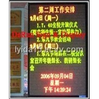 F5.0 Semioutdoor Bicolor LED Strip Sign