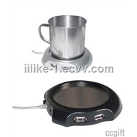 FB-W02 USB cup warmer with 4 USB hubs