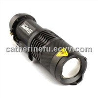 FX SK68 3W CREE Q3 LED FLASHLIGHT 1XAA/14500 (BLACK)