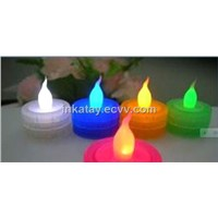 Fancy LED tea light with RGB color
