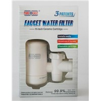 Faucet-mounted water filter in Kitchen