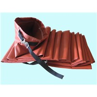 Fiber glass positive pressure heating exhaust duct