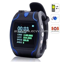Wrist Watch GPS Tracker Position Coordinates Display On LED Screen SOS Emergent Call Android/IOS APP Tracking