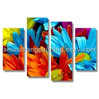GROUP DECORATIVE FLOWER PAINTING