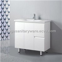 Glossy White Vanities Without Handles (IS-2043)