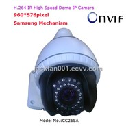 H.264 Mini High Speed  Infrared Dome IP Camera