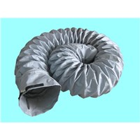 Heat resistant flexible exhaust duct with buckle coupling