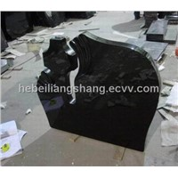 Hebei black granite headstone