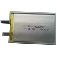 ICS403040-400mAh Soft Pack Li-ion Polymer Battery with 3.7V Nominal Voltage