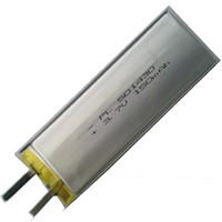 ICS501430-150mAh Soft Pack Lithium-ion Polymer Battery, 3.7V Voltage and 150mAh Capacity