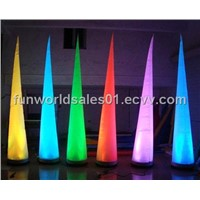 Inflatable LED cone, lighting decoration for party