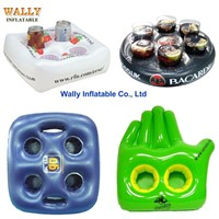 Inflatable drink holder, inflatable cup holder beverage beer , floating drink holder
