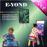 LED single side drawing board for children writing board