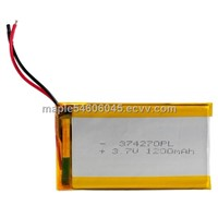 Lithium Polymer Battery 374170 with 1200mAh capacity