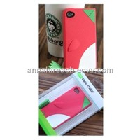 Lovely Penguins Pattern Case for iphone4/4s (HR-IPC-001)