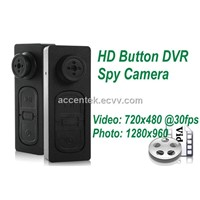 Mini Button Spy Camera Covert Pinhole DVR Hidden USB Voice Video Recorder HD 720x480 30fps