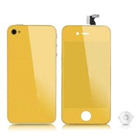 Mirror Gold Touch Screen for iphone LCD 4G with Back Cover