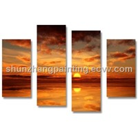 NEW ! SUNSET WALL ART DECORATION PAINTINGS