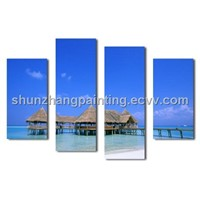 New ! Seaside house designs wall paintings!