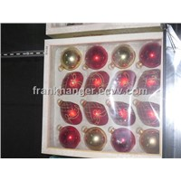 New Style Christmas decorative colorful glass ball