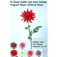 PU Flower dahlia Real touch feelings Fragrant Flower Artificial Flower