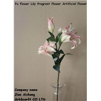 PU Flower lily Fragrant Flower Real touch feelings
