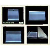 custom extrusion PVC price strip ,plastic label holder