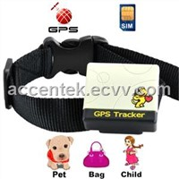 Pet Animal Surveillance GPS Tracker W/ Geofencing Alarm, Report position to mobile phone by SMS