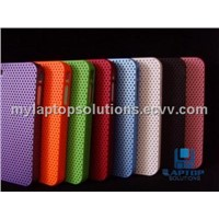 Portable Reticulated Shells Mesh Hole Case Cover Back Skin For iPhone4/4s