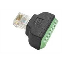 RJ45 plug to screw terminal